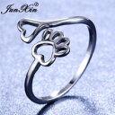 【送料無料】猫 キャット リング junxin cute female bear dog cat paw rings for women