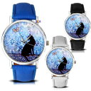 【送料無料】腕時計 レディースガールズファッションサイトパターンアナログladies women girls fashion cartoon cat pattern analog gift for her wrist watch