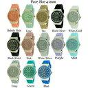 【送料無料】腕時計 ジュネーブプラチナラウンドシリコンファッションウォッチgeneva platinum round silicone fashion watch 41mm