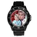 【送料無料】腕時計 パーソナライズカスタムメンズスポーツプレゼントpersonalised custom mens sport wrist photo watch engraving birthday gift