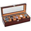 【送料無料】腕時計 スロットソリッドウッドストレージオーガナイザーボックスケースwatch case for men 5 slots solid wood storage organizer display box exquisite