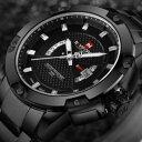 【送料無料】腕時計 メンズトップブランドスポーツクォーツステンレススチールウォッチ2018 mens top brand luxury sport quartz watch 3atm waterproof stainless steel