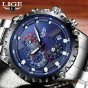 手錶 - 【送料無料】腕時計 ブランドスポーツlige watch men luxury brand watches leather steel sport gifts for him father son