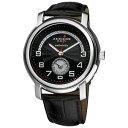 【送料無料】腕時計 レトログラードレザーストラップウォッチ mens akribos xxiv ak547bk automatic retrograde date leather strap watch