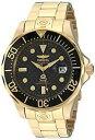 【送料無料】腕時計 メンズプロダイバーkゴールドダイブウォッチinvicta mens 10642 pro diver 18k gold ionplated automatic dive watch
