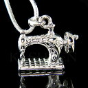 ショッピングミシン 【送料無料】アクセサリー ネックレスビンテージミシンジュエリーネックレスlook vintage 3d frister rossmann sincera rotatorio mquina coser joyera collar