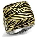 ショッピングスタンプ 【送料無料】アクセサリー ネックレスエナメルステンレストーンスタンプesmalte de color negro de 2370 sello para hombre dos tonos de acero inoxidable, anillo laminado en oro