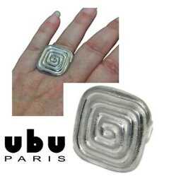 【送料無料】アクセサリー ネックレスパリファンタジーリングスクエアスパイラルサイズubu paris anillo de fantasa chapado en plata espiral cuadrado tamao ajustable