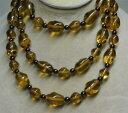 【送料無料】アクセサリー ネックレス バロックトパーズガラスビーズjoan rivers oro di ep annodati a mano topazio barocco perline di vetro 46