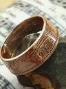 【送料無料】アクセサリー ネックレス コインリングイギリスハーフペニーサイズ?anello di monete 1958 realizzato british half pennyqual la tua taglia