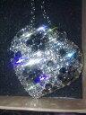 【送料無料】アクセサリー ネックレス チェーンシルバートーンクリスタルkirks folly grande cuore di cristallo con fiori di cristallo nero su catena tono argento