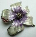 ショッピングHID 【送料無料】アクセサリー ネックレス アルジェントバイオレットヴィンテージgrande broche couleur argent orchide mail gris et violet bijou vintage 5267