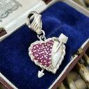 【送料無料】ネックレス judith ripka sterlingcharmruby gemstonesheart charmjudith ripka sterling silver charm, ruby gemstones, heart charm