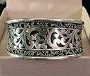 【送料無料】ネックレス ヒルスターリングシルバーカフブレスレットインチlois hill engraved sterling silver womans cuff bracelet 725 inches minty