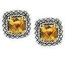 ショッピングケーブル 【送料無料】ネックレス カンデラkゴールドスターリングシリトンクッションケーブルスタッドイヤリングandrea candela 18k gold sterling citrine cushion 7mm cable stud earrings ace41c
