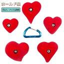 【Boltタイプ】ハートホールド ( 5 pack ) / 5 Pack Hearts クライミングホールド【ボルダリング、自宅の壁に設置、クライミングウォー..