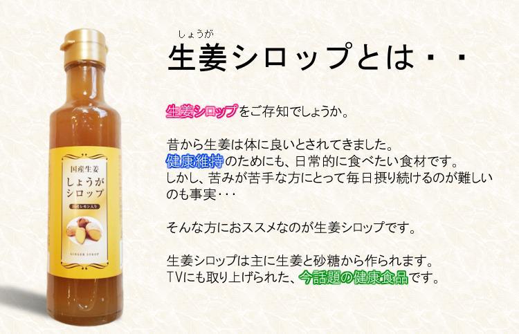 【ラッキーシール対応】国産生姜シロップ 200mlの紹介画像2