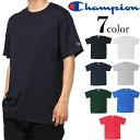 チャンピオン Tシャツ 無地 クルーネック Tシャツ Champion ユニセックス ワンポイント 半袖 ブランド メンズ レディース USバージョン プレゼント メール便のみ
