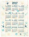 ハワイアン雑貨 2017年 ジュートカレンダー【送料無料】 ワンページ (シェル) ハワイアン 雑貨インテリア雑貨 ハワイアン 雑貨 【メール便対応可】 【あす楽対応】【送料無料】 10P03Sep16 【HLS_DU】