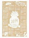 ハワイアン雑貨 ハワイアン インテリア 2019年 ジュートカレンダー ハワイアン 雑貨/ポスター カレンダー2019 ワンページ (ビーチ) 壁掛け おしゃれ ハワイアン雑貨 ハワイアン 雑貨 ハワイ お土産