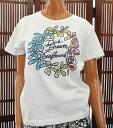 50%OFF SALE ハワイアン雑貨/ハワイアン 雑貨 【DICK BREWER】ラインストーン 半袖Tシャツ(レディース/ホワイト) 161-…
