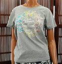 50%OFF SALE ハワイアン雑貨/ハワイ 雑貨 【DICK BREWER】ラインストーン 半袖Tシャツ(レディース/グレー) 161-DB2677…