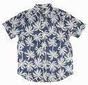 ハワイアン雑貨 アロハシャツ ALOHA MADE アロハメイド メンズ 半袖 (NVY) メール便対応可 ハワイアン雑貨 サーフブランド ハワイアン 雑貨 ハワイ ハワイアン