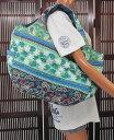 ハワイアン バッグ ハワイアン雑貨/フララニ 中綿トートバッグ マザーズバッグ スナップタイプ(ホヌ&ティアレ/ブルー)HU418009 サーフブランドハワイアン 雑貨/バッグ