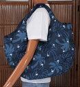 ショッピングマザーズバッグ 【お買い得セール】ハワイアン トートバッグ ハワイアン雑貨 フララニ 中綿トートバッグ マザーズバッグ スナップタイプ(ヤシ ネイビー) 191HU4BG026 サーフブランドハワイアン 雑貨 バッグ