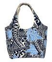 ショッピングキャンバス ハワイアン トートバッグ ハワイアン雑貨 バッグ アロハメイド キャンバス ミニトートバッグ (リーフ&サーフ ネイビー) MA4BG085NVY-1 ハワイアン雑貨サーフブランド ハワイアン 雑貨 ハワイアン バッグ