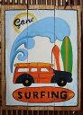 ハワイアン雑貨/インテリア/ハワイアン 雑貨 ハワイアン ピクチャー(Gone Surfing 2) ハワイ 雑貨ハワイ お土産 ハワイアン インテリア