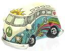 ハワイアン 雑貨 インテリア ポップ ワーゲンバス(ブルー) ハワイアン雑貨小さな可愛い置物 ハワイアン雑貨 ハワイ お土産 ハワイア..
