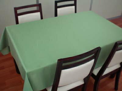 布テーブルクロス(はっ水加工)NF2003グリーン【約130cm巾×約170cm長】