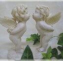【オーナメント ガーデニング】 エンジェルキス ★おもわず微笑んでしまう愛らしい天使の置物【置き物