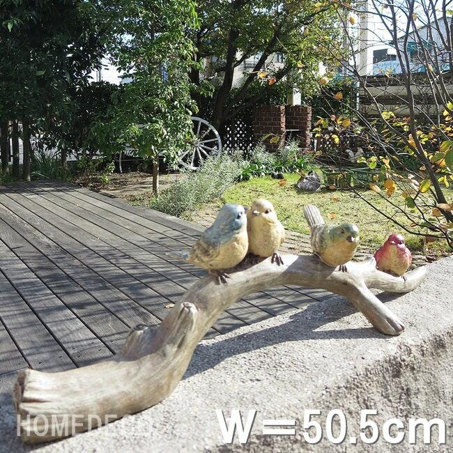 オーナメントガーデニング子鳥4羽の話B置物鳥トリバード動物ガーデンオーナメント