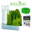 ショッピング加湿 【送料無料】交換用フィルター付自然気化式ECO加湿器 うるおいアニマル小さな森 エルクグリーン