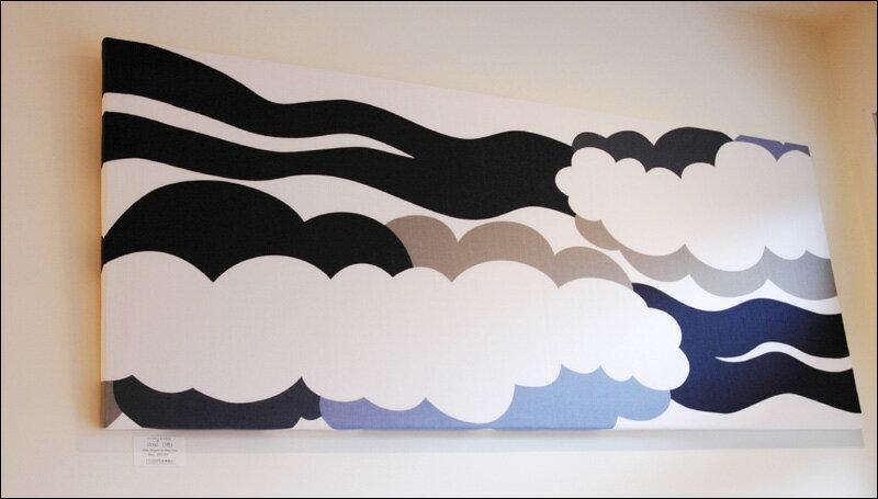 北欧ファブリックパネル クラウド(cloud) ブルー【送料無料】