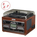 【替え針3本付き!】とうしょう(TOHSHOH) 木目調WCDコピーマルチプレーヤー TS-6160 [CD・レコード・カセットをCDに録音できる!]【メール便不可】