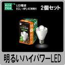 エコリカ(ecorica)LED電球(40W形電球色相当)ECL-HPL40WWH 2個セット