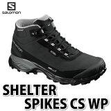 SALOMON シューズ SHELTER SPIKES CS WP L39072800 (BLACK/BLACK/PEWTER) 【サイズ:25.5-27.5cm】【送料無料】【メール便不可】