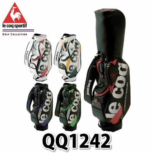 【ネームプレート刻印可】le coq sportif キャディバッグ QQ1242 【カラー5色】【送料無料】【メール便不可】【ラッピング不可】