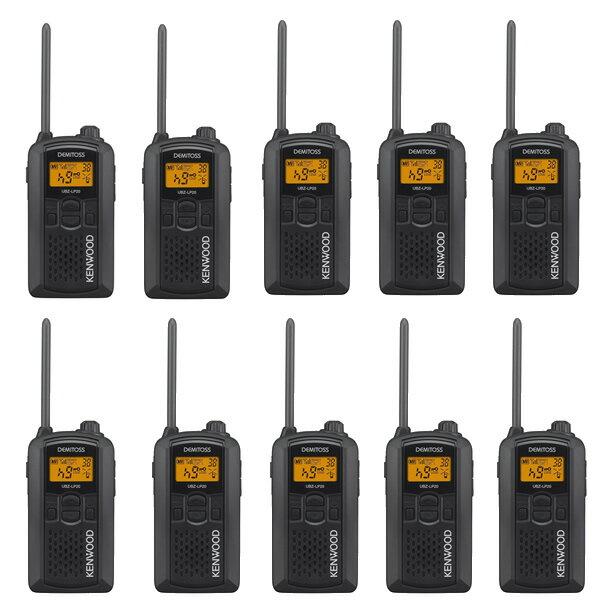 【10台セット】ケンウッド(KENWOOD) 特定小電力トランシーバー UBZ-LP20(B) ブラック [デミトス/DEMITOSS][無線機](ラッピング不可)