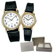 【国内正規品】【セット】 【腕時計】 AQGK416・AQHK416 ALBA QUARTZ[アルバ クオーツ] セイコー専用ペア箱セット【革バンド】【ペアウォッチ】