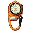 (正規品)DAKOTA(ダコタ) 3805-1 時計 クリップウォッチ ミニクリップ オレンジ アウトドア