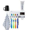 UV自動歯ブラシ消毒器 UV紫外線歯ブラシ殺菌器 壁掛け歯ブ...