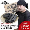 【2セット】炭職人 オガ炭 20kg (...