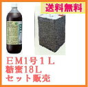 【送料無料】EM1号「1L」+糖蜜18L「セット販売」「EM菌」