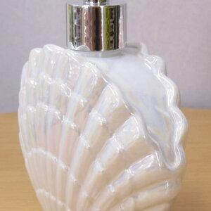 ソープディスペンサーラナクレルソープボトル300ml人気のシェルの形のおしゃれでかわいいのソープディスペンサー。洗面所やキッチン、バスルームに詰め替えボトルアクリル製で軽くて安心