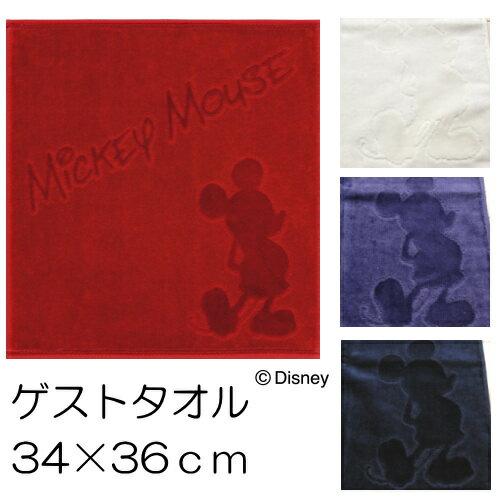 ウォッシュタオル/ハンドタオル 34×36cmディズニー ミッキー MICKEY  コントゥールカラー ゲストタオル 【あす楽対応】【Disneyzone】【メール便可】