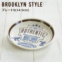 楽天北欧雑貨 マット プロヴァンスの風ディズニー お皿 小皿 食器 ミッキー おしゃれ 『ブルックリンスタイル プレートS(14.5cm)』 ケーキ皿 取り皿